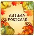 Autumn sketch with space for text vector image vector image