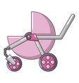 baby carriage modern icon cartoon style vector image vector image