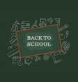 back to school poster template vector image vector image