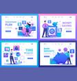 bank deposits investment plan time management vector image