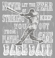 baseball fear strike vector image vector image