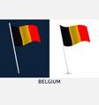 belgium flag waving national flag belgium vector image