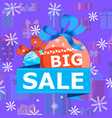 big xmas sale vector image vector image