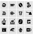 black coffee icon set vector image