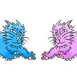 blue and pink cats vector image