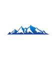 blue high mountain abstract logo vector image
