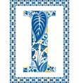 Blue letter I vector image vector image