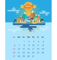 Calendar of march vector image