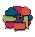 comic bubble pop art colorful cloud comics speech vector image vector image