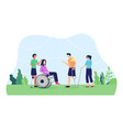 disabled people concept vector image