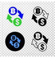 dollar bitcoin exchange eps icon with vector image