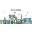 england leeds city skyline architecture vector image vector image