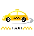 fast cartoon taxi car vector image vector image