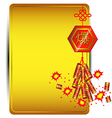 Firecracker on golden background Chinese new year vector image vector image