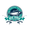 Fishing trip sport club round sign vector image vector image