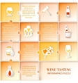 Flat vine infographic design vector image vector image