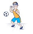 football player character vector image vector image