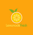 fresh lemonade logo design template for your vector image