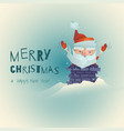 funny stylized santa claus enters the chimney vector image