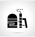 glyph style icon for fuel storage vector image vector image