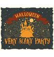 Halloween grunge greeting card vector image vector image