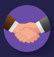 handshake icon contract icon agreement icon for vector image vector image