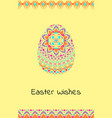 happy easter background with easter egg mandalas vector image vector image
