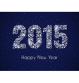 Happy new year on night sky vector image vector image