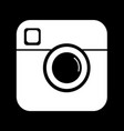 hipster photo camera icon design vector image