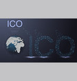 ico initial coin offering futuristic hud vector image