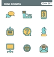 Icons line set premium quality of doing business vector image vector image
