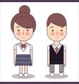 junior high school students design of japan vector image vector image