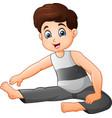 little boy doing exercises vector image