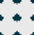 Maple leaf icon Seamless abstract background with vector image vector image