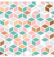 marble texture seamless pattern design with cubes vector image