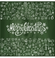 Merry Christmas greeting cardLinear icons vector image vector image