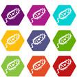 microbe icons set 9 vector image