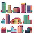 minimal buildings city skyline geometric urban vector image vector image
