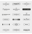 minimal vintage logo templates vector image vector image