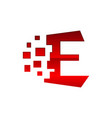 modern creative e initial letter e logo graphic vector image vector image
