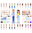 modern male and female characters constructors vector image vector image