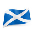 National flag of scotland white cross on blue vector image