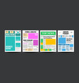 newspaper cover set paper tabloid design vector image vector image
