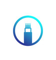 optic cable bandwidth icon vector image vector image