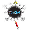 pencil idea isolate write blue concept education vector image vector image
