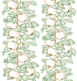 Seamless line pattern of the branches of the apple vector image vector image