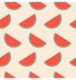 Seamless repeat pattern with watermelon slices vector image