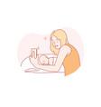 selfie motherhood childhood family concept vector image vector image