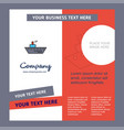 ship company brochure template busienss template vector image vector image