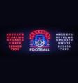 soccer championship logo neon soccer neon vector image